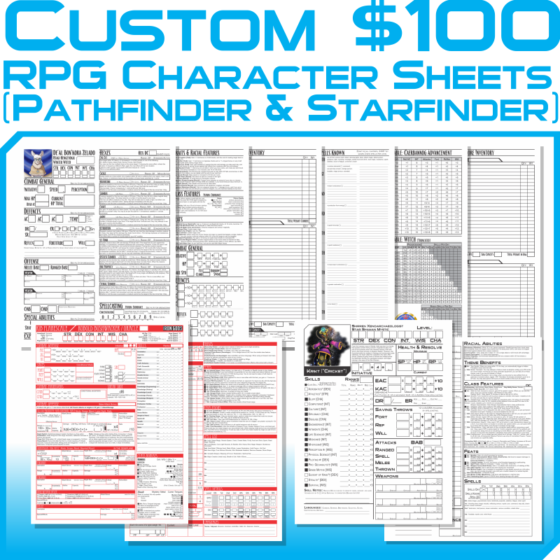 toasterpip commission prices RPG sheets $100