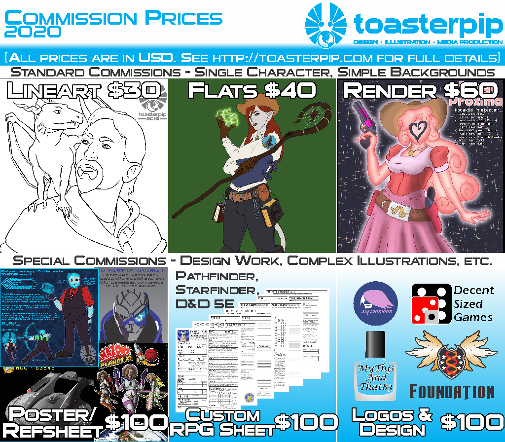toasterpip commission prices 2019