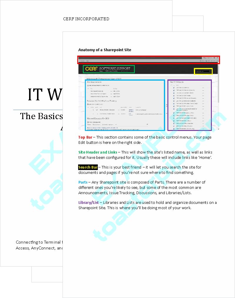 toasterpip design portfolio manual IT information_technology technical_writing