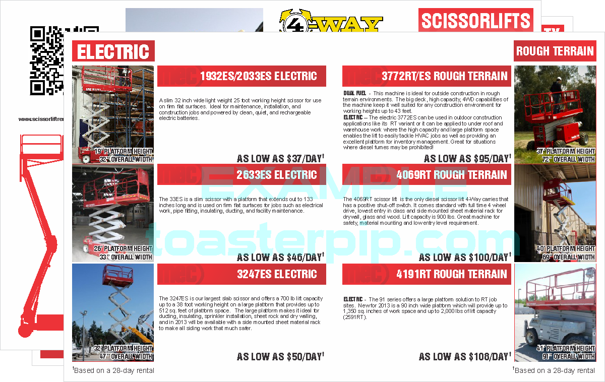 toasterpip design portfolio brochure promotion MEC scissorlift boom_lift