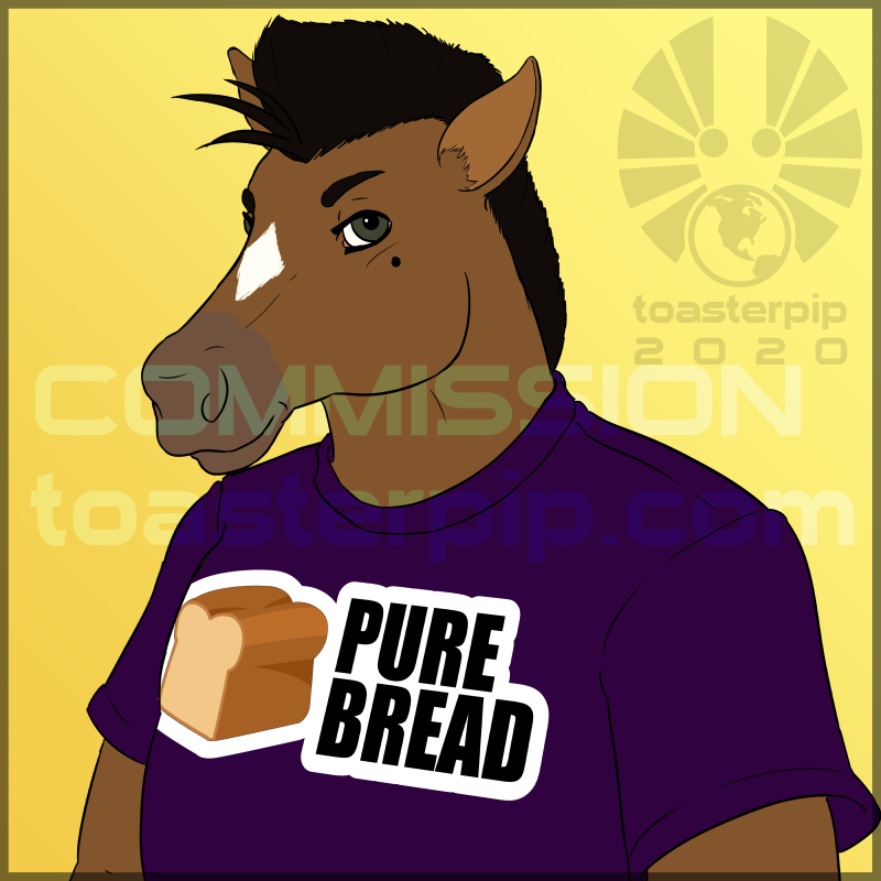 toasterpip commission icon horse bust tshirt funny