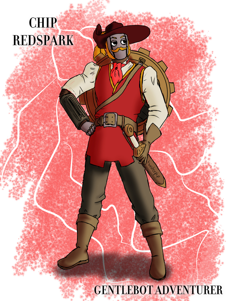 pathfinder warforged fighter chip_redspark