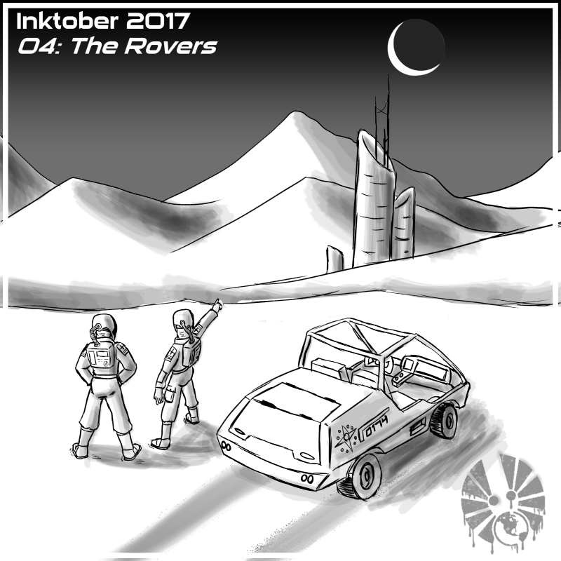 inktober inktober2017 day04 the_rovers