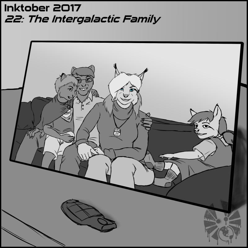 inktober inktober2017 day22 the_intergalactic_family