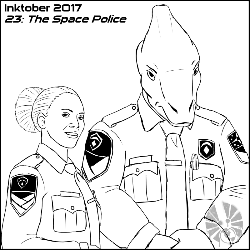 inktober inktober2017 day23 the_space_police TCS