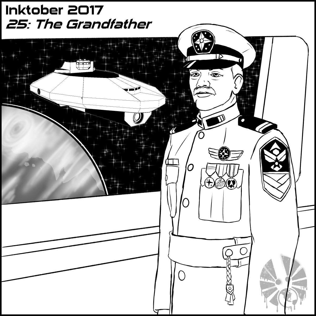 inktober inktober2017 day25 the_grandfather TCS ss_venture