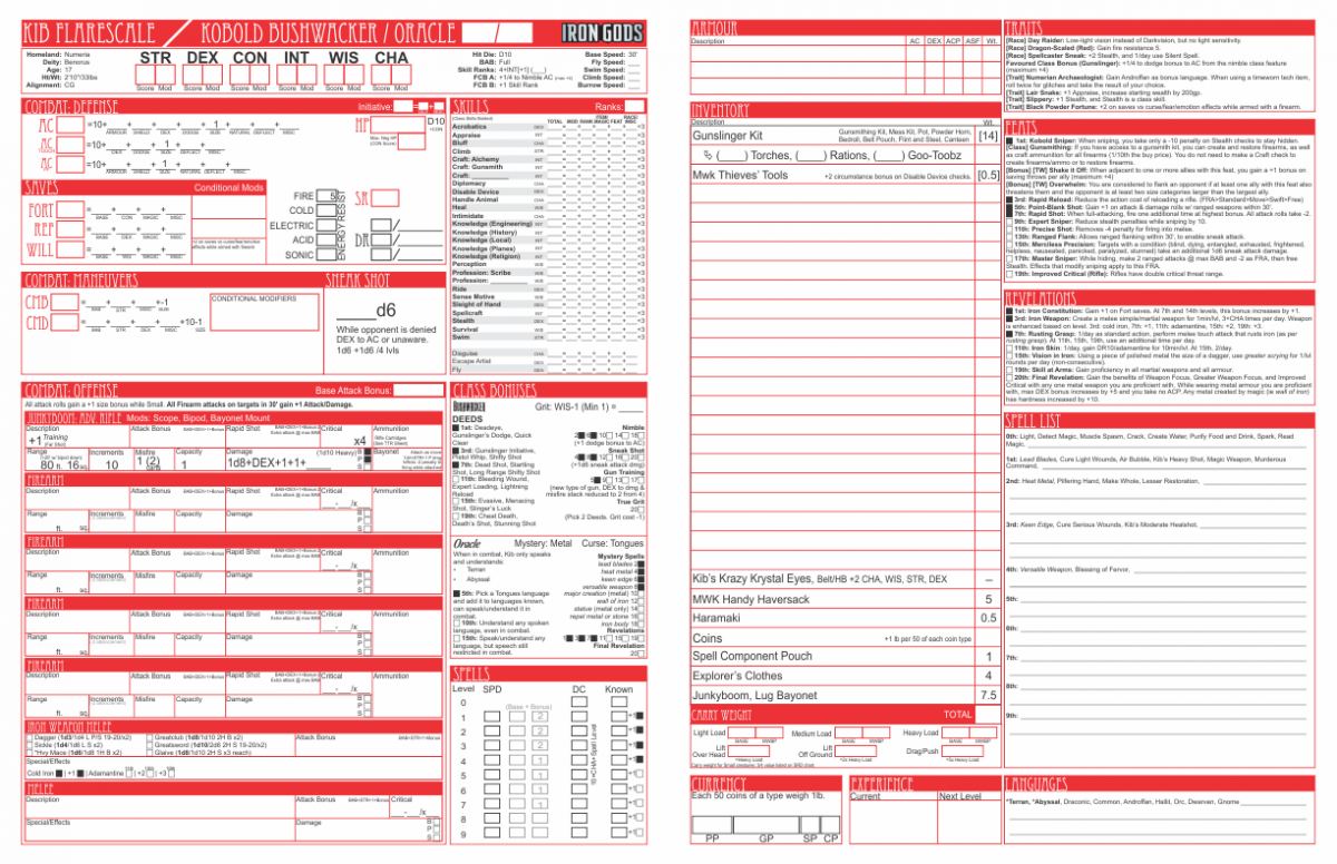 photo regarding Pathfinder Printable Character Sheet identified as Starfinder Layout, Example, Comics as a result of Philippe Mandin