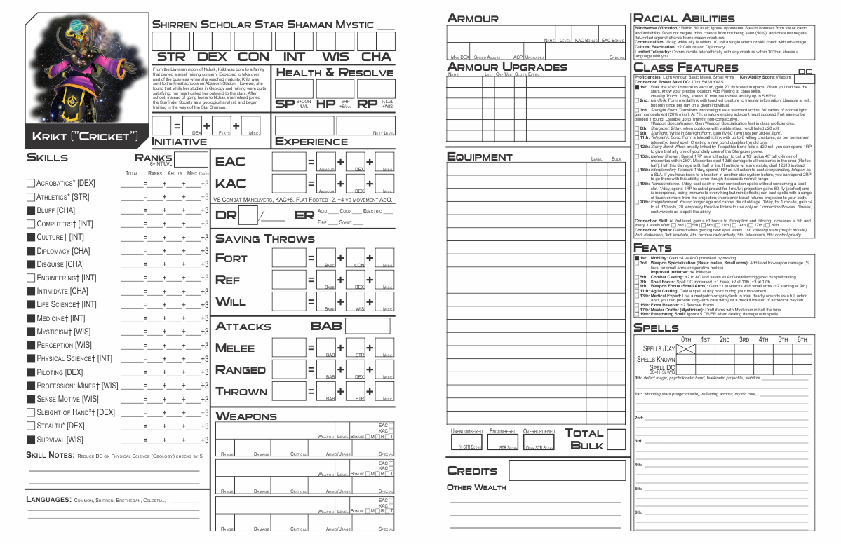 photo relating to Starfinder Character Sheet Printable named Paizo Starfinder Persona Sheet Equivalent Key phrases